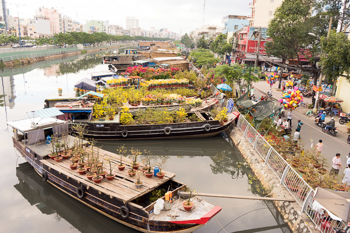 The Floating Flower Market of Ben Binh