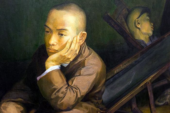 Vietnamese Painting Young Man